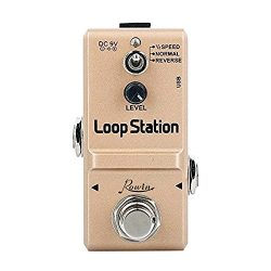 Rowin Loop Station Looper Effects Pedal Unlimited Overdubs 10 Minutes of Looping, 1/2 time, and  ...