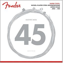 Fender 7250M Nickel Plated Steel Roundwound Long Scale Electric Bass Guitar Strings – Medium