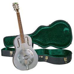 Regal RC-43 Metal Body Triolian Guitar – Antiqued Nickel-Plated Steel – with Deluxe  ...