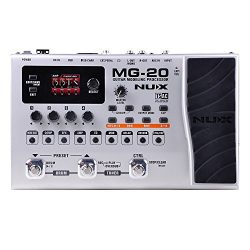NUX MG-20 Electric Guitar Multi-effects Processor with Drum machine Looper Function Expression p ...