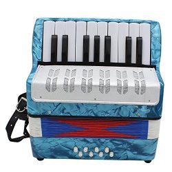 Andoer Mini Small 17-Key 8 Bass Accordion Educational Musical Instrument Toy for Kids Children A ...