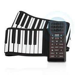 JouerNow RUP002 88 Thickened-Keys Roll Up Piano Synthesizer/ Electronic Flexible Silicone Keyboa ...