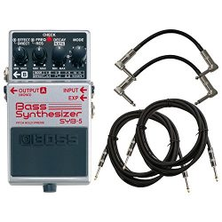 BOSS SYB-5 Bass Synthesizer Pedal Bundle w/4 Free Cables