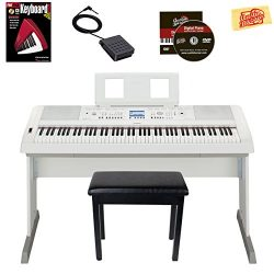 Yamaha DGX-660 Digital Piano – White Bundle with Furniture Bench, Instructional Book, Aust ...
