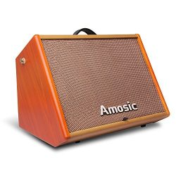Amosic Guitar Amplifier 25W, Combo Amp Speaker with Free Cable Bundle for Street Performance and ...