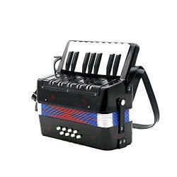 Andoer Kids Children 17-Key 8 Bass Mini Small Accordion Educational Musical Instrument Rhythm Ba ...