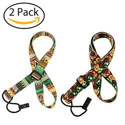 2 Pack Ukulele Strap Adjustable Neck Strap – Hawaiian Style Shoulder Strap for Soprano, Co ...