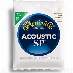 Martin MSP3600 SP 80/20 Bronze 12-String Acoustic Guitar Strings, Extra Light
