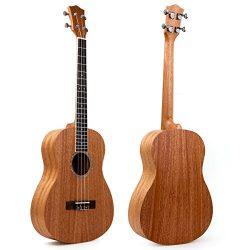 30 Inch Ukulele Mahogany Ukelele Baritone Size Hawaii Guitar UkeFrom Kmise