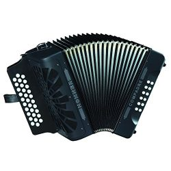 Hohner Button Accordion Compadre GCF, With Gig Bag And Straps, Black