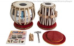 MAHARAJA Basic Tabla Set, Student Tabla Set, Steel Bayan, Dayan with Book, Hammer, Cushions & ...