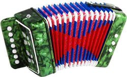 Child's 7 Key Melodeon Accordion – Green
