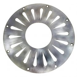 "5.5″ ""Radial Teardrop"" Stainless Steel Resonator Cover Plate for Cigar Box Guitars"