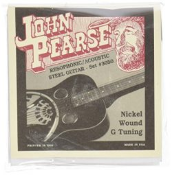 John Pearse JP3050  Pure Nickel Acoustic Guitar Strings, Medium