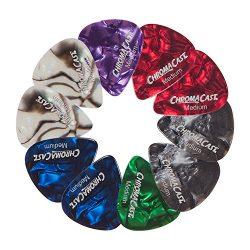 ChromaCast Pearl Celluloid Guitar Pick 10 Pack, Medium Gauge (.73mm)