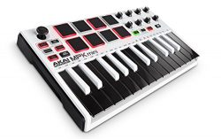 Akai Professional MPK Mini MKII White | 25-Key Ultra-Portable USB MIDI Drum Pad & Keyboard C ...