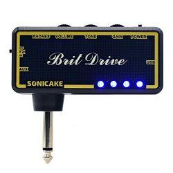 SONICAKE Amphonix Brit Drive Classic Crunch USB Chargable Headphone Pocket Guitar Amp w/h Built- ...