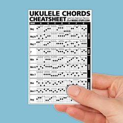 Ukulele Chords Cheatsheet Laminated and Double Sided Pocket Reference 4″x6″ • Best M ...