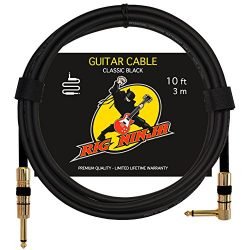 RIG NINJA GUITAR CABLE for Serious Musicians, 10 ft Electric Guitar Amp Cord for a Clean Tone to ...