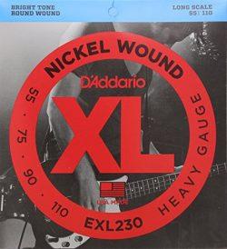 D'Addario EXL230 Nickel Wound Bass Guitar Strings, Heavy, 55-110, Long Scale
