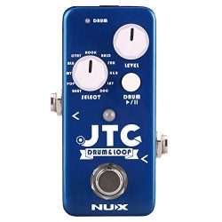 NUX JTC Mini Guitar Looper Auto Detection Drum Machine 24 bit Audio 6 Minutes Recording Time