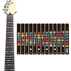 COCODE Guitar Fretboard Note Decals Fret Stickers For Acoustic Electric Guitar Practice Learner  ...