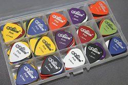 100pcs Acoustic Electric Guitar Picks Plectrum Various Colors 6 thickness 0.58/0.71/0.81/0.96/1. ...