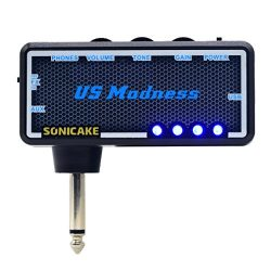 SONICAKE Amphonix US Madness Vintage Bass USB Chargable Headphone Pocket Guitar Amp w/h Built-in ...