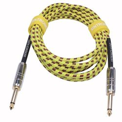 XINTRONICS 10 Foot Guitar Cable – Premium Musical Instruments Cable, Electric Guitar & ...
