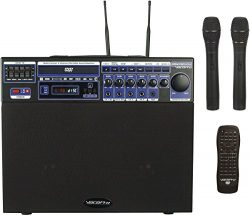 VocoPro DVD-Soundman 80W Multi-Format 4 Channel Portable Sound System with 2 Channel Wireless Mi ...