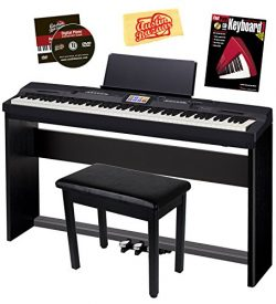 Casio Privia PX-360 Digital Piano – Black Bundle with CS-67 Stand, SP-33 Pedal, Furniture  ...