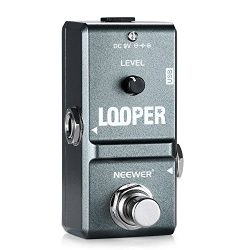 Neewer NW-332 Mini Electronic Guitar Looper Effects Pedal True Bypass Unlimited Overdubs 10 Minu ...