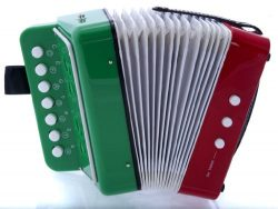 D'Luca G105-MEX Child Button Accordion Mexican Flag
