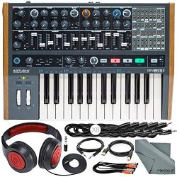 Arturia MiniBrute 2 Semi-Modular Monophonic Analog Synthesizer with Samson Dynamic Headphones, C ...