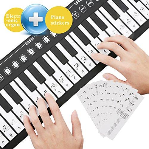A-SZCXTOP Roll Up 49 Key Piano Toy Keyboard Hand Piano Folding Electronic Piano & Organ Keyb ...