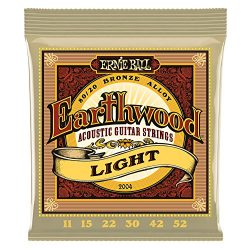 Ernie Ball Earthwood Light 80/20 Bronze Acoustic Set, .011 – .052