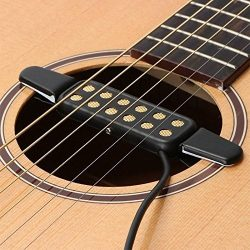 Guitar Pickup,12 Hole Sound Pickup For Acoustic/Electric Guitar Transducer Microphone Wire Ampli ...