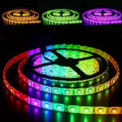 Solarphy 32.8ft (10m) RGB LED Strip Light Bluetooth Smartphone App Controlled 5050 LED Light Str ...