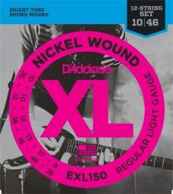 D'Addario EXL150 Nickel Wound Electric Guitar Strings, Regular Light 12-String Electric Gu ...