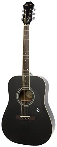 Epiphone DR-100 Acoustic Guitar, Ebony