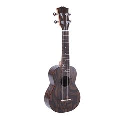 Pyle Mahogany Wood Soprano Ukulele – Flamed Brown Body, Black Walnut Fingerboard and Bridg ...