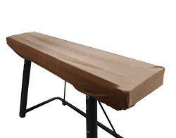 DECOV Piano Keyboard Cover Stretchy Plush Velvet Dust Cover for 88-Keys Digital Piano Keyboard ( ...