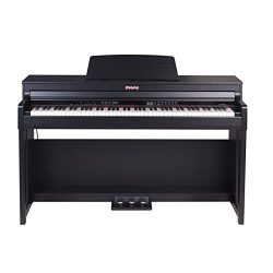 FLYCHORD Digital Piano DP420K Featured with Three Triple Sensor Hammer-Action Graded Weighted Ke ...