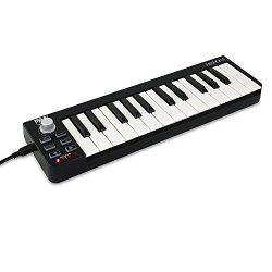 Pyle USB MIDI Keyboard Controller – Upgraded 25 Key Portable Audio Recording Workstation E ...