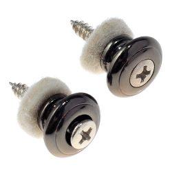 2pcs Mushrooms Head Guitar Strap Buttons Strap Locks Chrome Guitar Parts