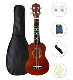 Choies 21″ Soprano Ukulele Four String Guitar Beginner Pack With Gig Bag Tuner Strap Polis ...