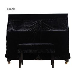 Monkeysell Full Piano Cover Cloth Art More pleuche Decorated with Macrame for Universal Upright  ...
