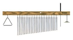 TreeWorks Chimes TRE24 Made in USA Medium Bar Chime MultiTree with 4″ Studio Grade Triangl ...