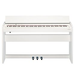 Roland F-140R Compact Digital Piano with Stand, 88 Keys, 305 Tones, Satin White