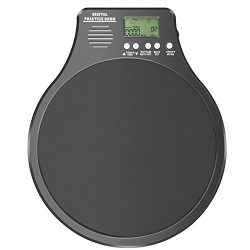 Neewer 3-in-1 Digital LCD Display Portable Drum Practice Pad Metronome Drummer Training Pad with ...